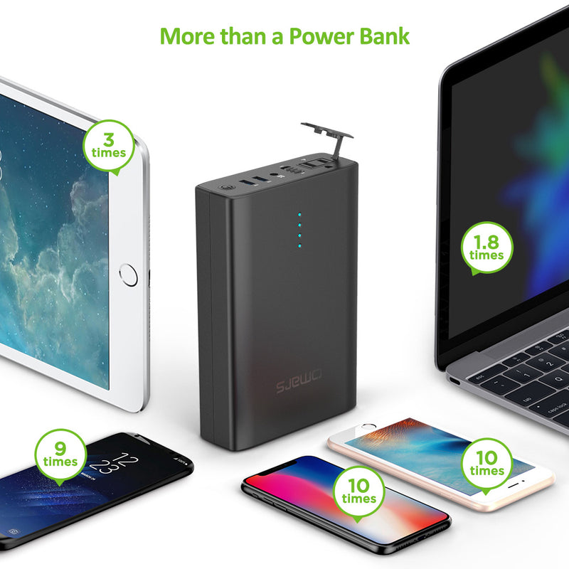 Omars USB C Power Bank 10000mAh Portable Charger Battery Pack 3-Port USB-C PD 30W Power Delivery Fast Charge Portable Power Bank Compatible with iPhone Xs/XR/XS Max/X, iPad, Galaxy S9 / Note 9