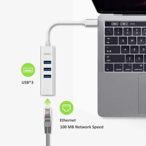 4-in-1 USB 3.0 Hub with Ethernet