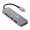 USB C Hub 5 in 1 with HDMI 4K Adapter, 2 USB 3.0 Ports, 1 SD Memory Port, 1 microSD Card Reader Compatible with MacBook Pro 2017/2016, HW MateBook, Google Chromebook Pixel, Samsung S8 (Grey)