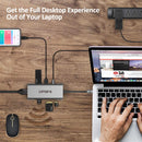 Omars 7-port USB Type-C Hub with USB C Power Delivery, 4K HDMI, 3 USB 3.0, SD/TF Card Reader Compatible with MacBook Pro and More USB C Devices
