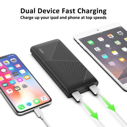 Omars Power Bank Ultra Slim Quick Charge Portable Phone Charger