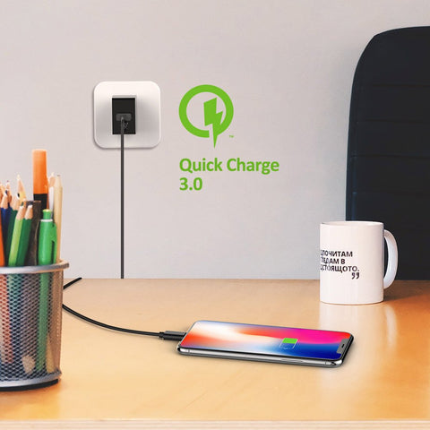 Quick Charge 3.0 18W USB Wall Charger (Qualcomm Certified)
