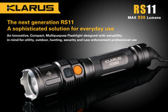 Klarus RS11 with grab n go magnetic charger