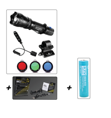 Olight M20S Hunting Kit + Olight 2600 mAh 18650 Battery + Xtar MC1 Charger