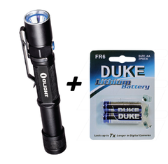 Olight ST25 Baton + 2x Duke AA Disposable batteries Full Kit