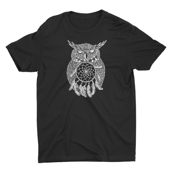 Woman's Dream Catcher Owl V Neck
