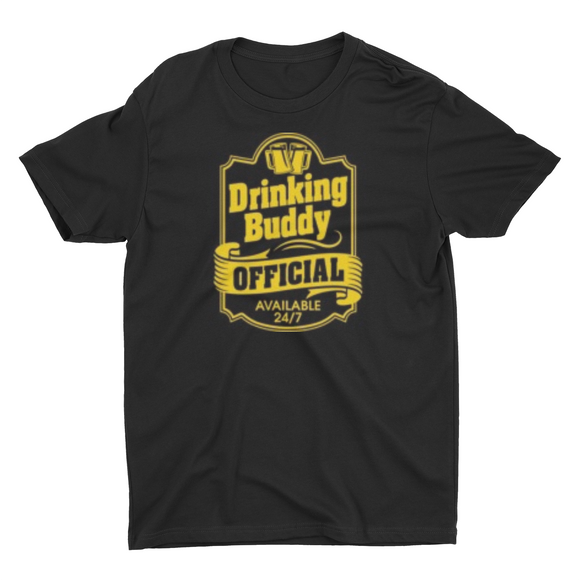 Men's Official Drinking buddy T shirt