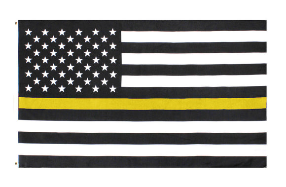 Dispatch 3x5ft thin Yellow line flag for dispatch