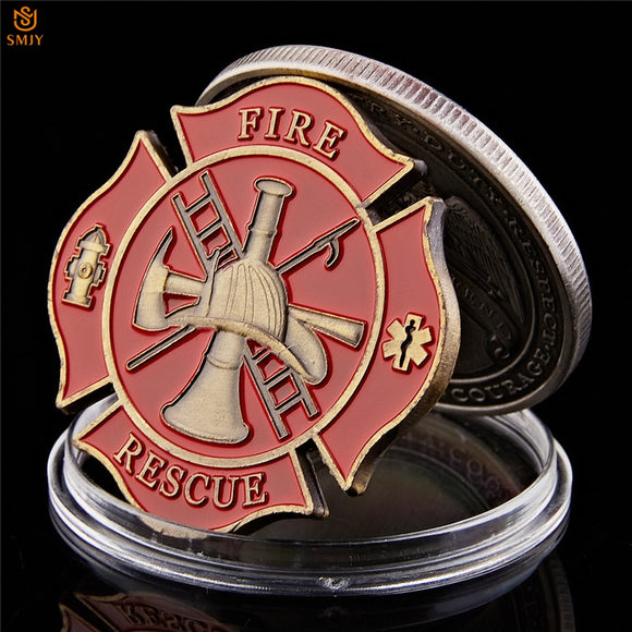Fire Rescure Challenge coin
