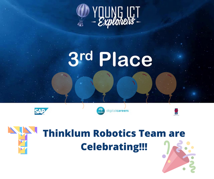 Thinklum wins Young ICT Explorers 3rd place in NSW with Handy Hands Robotics project