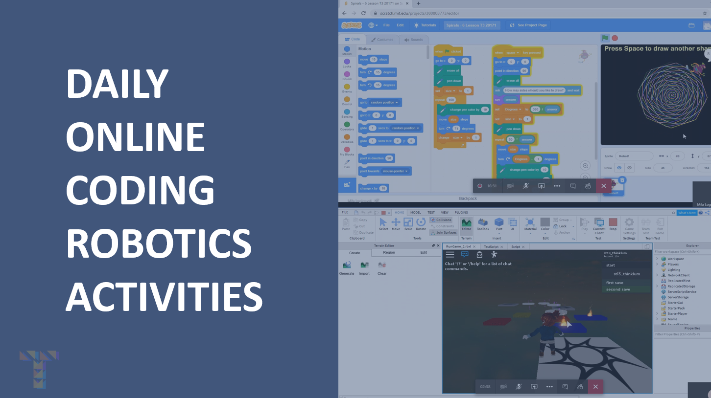 Daily coding and robotics activities for kids