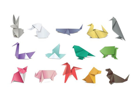 Kids learn how to create origami on school holidays