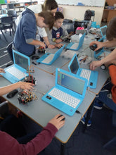 Load image into Gallery viewer, Children are building and coding robots at robotics school