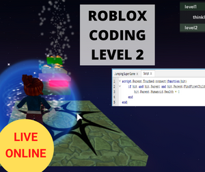 Online Roblox Coding LEVEL 2 - - Online Coding Class for Kids - School Grades Y3-Y7