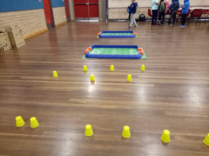 Soccer fields are ready to start Soccer Robots school holidays camp at Thinklum