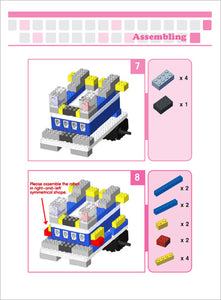 Steps to asseble a robot for kids from bricks and sensors