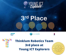 Load image into Gallery viewer, Thinklum robotics  team came 3rd at ICT Young Explorers Competition with their robotic project