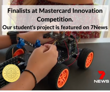 Load image into Gallery viewer, Thinklum student is a finalist with his robotic project at Master card innovation competition