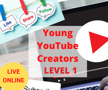 Load image into Gallery viewer, Young YouTube Channel Creators – Online YouTube Course for Kids – Level 1