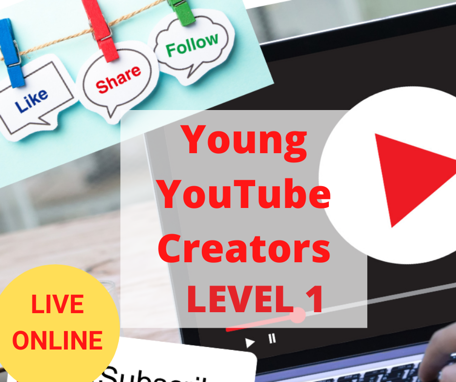 Young YouTube Channel Creators – Online YouTube Course for Kids – Level 1