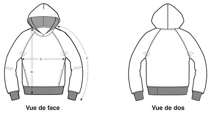 Guide de Taille sweat-shirt