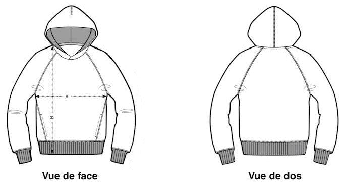 Sweat-shirt guide taille