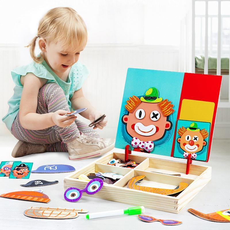 Magnetic puzzle box preschool education toys
