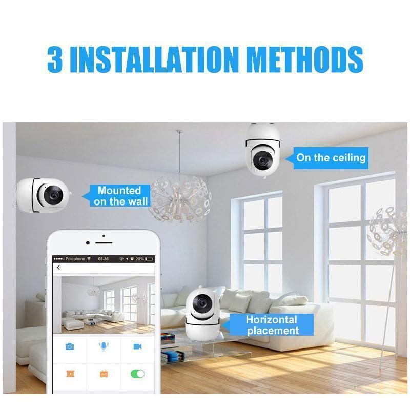 Smart AI Security Camera - Human tracking / night vision HD