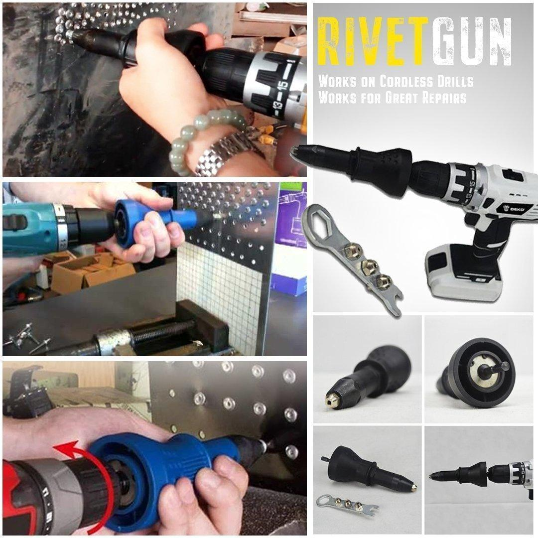 Electric Rivet Gun Adapter New Detachable Rivet Gun Drill Adapter