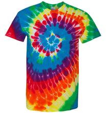 Load image into Gallery viewer, Charleston Dance or Just Dance Logo Tie Dye T-shirt