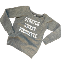 Load image into Gallery viewer, Stretch, Sweat, Pirouette Wide Neck Sweatshirt