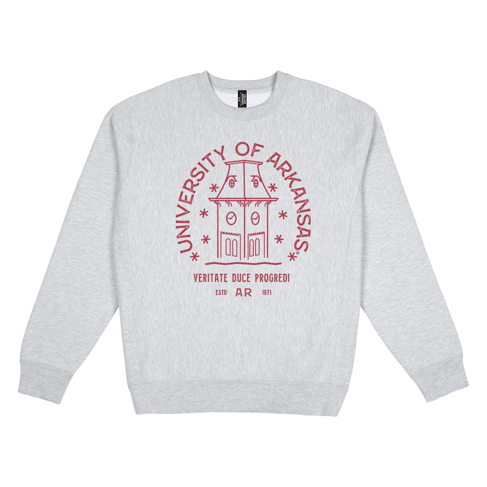 Arkansas Typography Heavyweight Crewneck