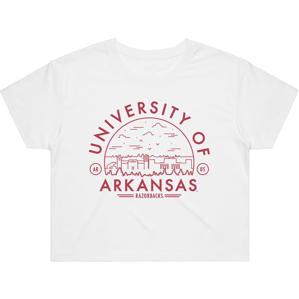 Arkansas Voyager Crop Tee