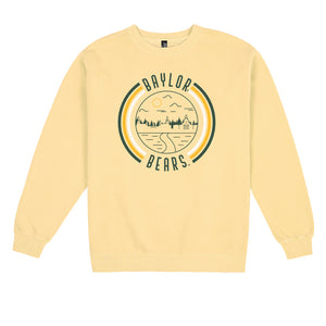 Baylor '90s Pigment Dyed Crewneck