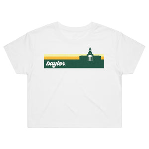 Load image into Gallery viewer, Baylor Groovy Crop Tee