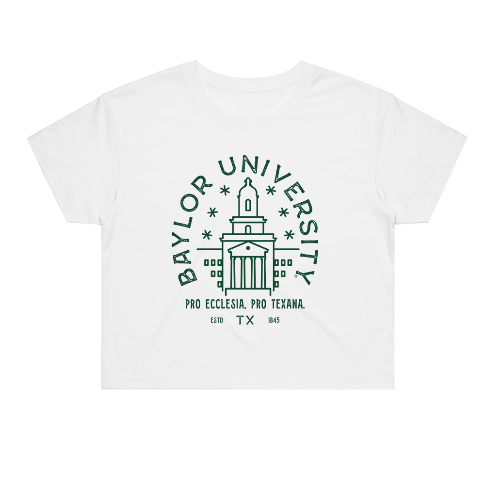 Load image into Gallery viewer, Baylor Typography Crop Tee