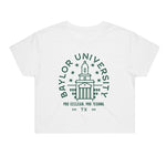 Baylor Typography Crop Tee