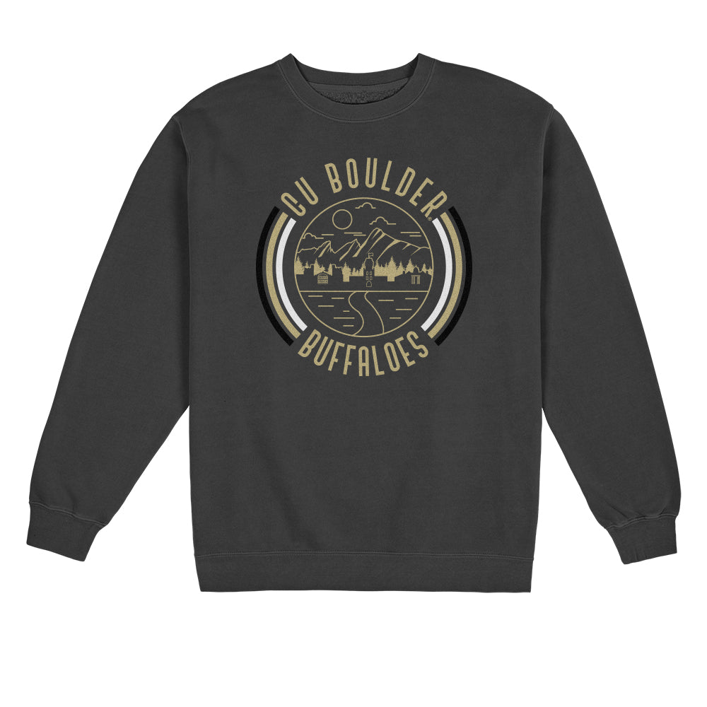 Load image into Gallery viewer, CU Boulder '90s Pigment Dyed Crewneck