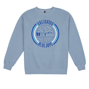 Load image into Gallery viewer, Creighton '90s Pigment Dyed Crewneck