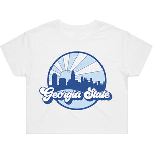 Load image into Gallery viewer, Georgia State Far Out Crop Tee