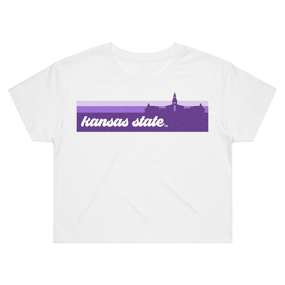 Load image into Gallery viewer, Kansas State Groovy Crop Tee