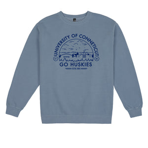 Load image into Gallery viewer, UCONN Voyager Pigment Dyed Crew