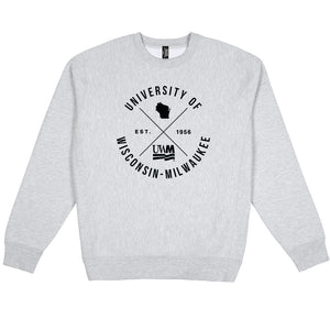 Load image into Gallery viewer, UWM Typography Heavyweight Crewneck