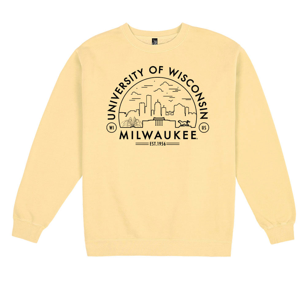 Load image into Gallery viewer, UWM Voyager Pigment Dyed Crewneck