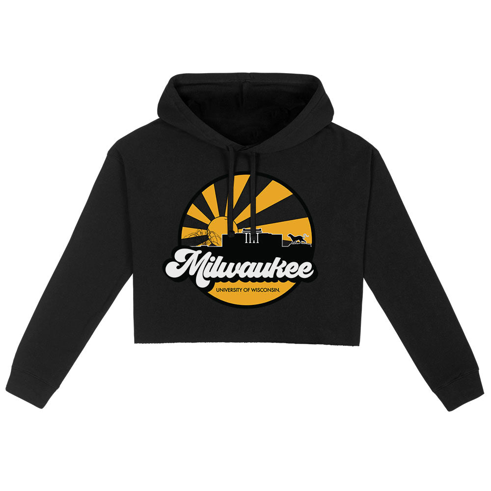 UWM Far Out Cropped Hoodie