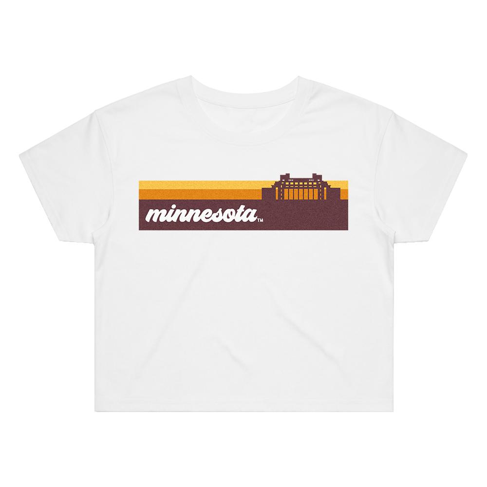 Load image into Gallery viewer, Minnesota Groovy Crop Tee