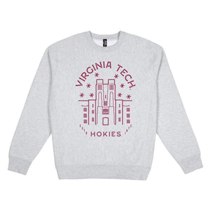 Load image into Gallery viewer, Virginia Tech Typography Heavy Weight Crewneck