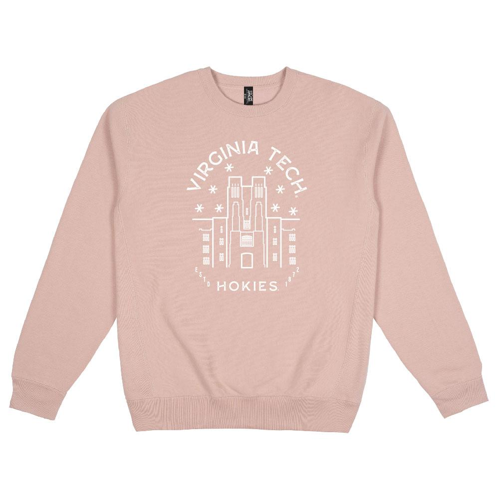 Virginia Tech Typography Heavy Weight Crewneck