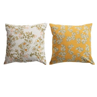 Retro print pillow