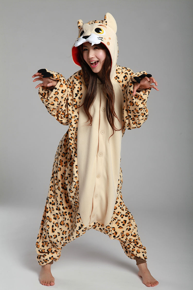Cheetah Leopard Animal Kigurumi Onesies